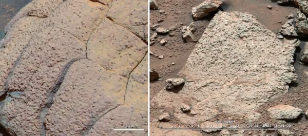 На Марсе обнаружены следы жизни.