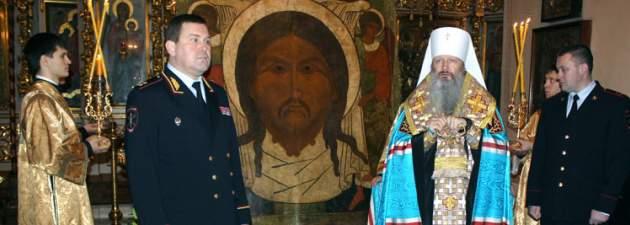 Вятской епархии передали икону «Спас Нерукотворный», украденную год назад.