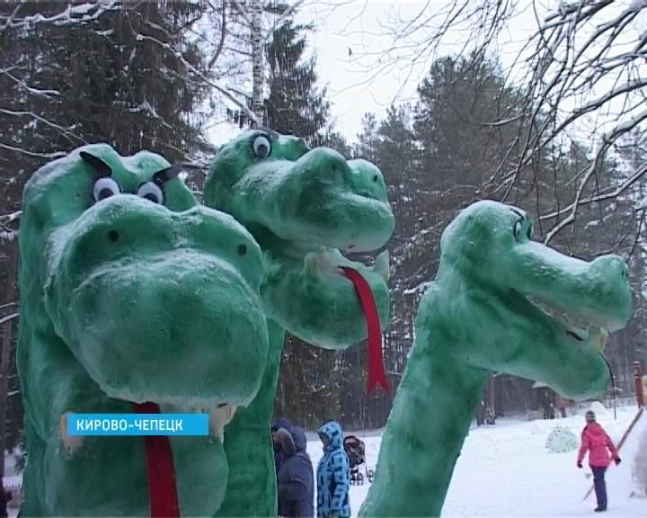 Конкурс снежных фигур в Кирово-Чепецке
