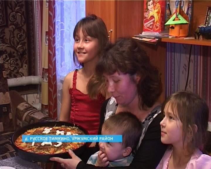 Александр Галицких поздравил с наступающим Новым годом многодетную семью Гребневых