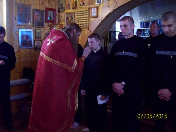 В кировской колонии строгого режима прошел обряд Крещения.