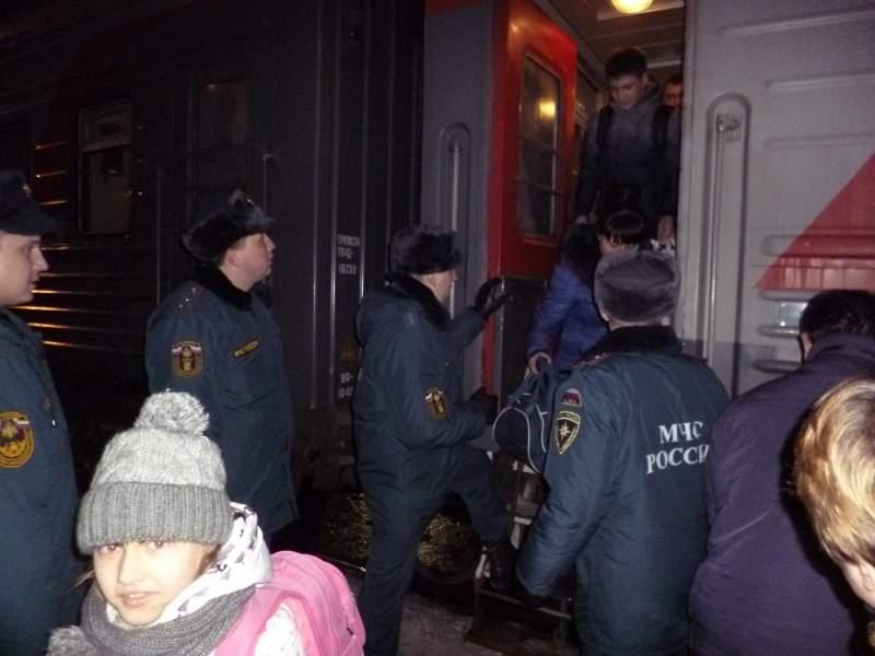 В Киров прибыли 53 беженца с Юго-Востока Украины.