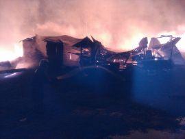В Котельничском районе сгорела столовая.