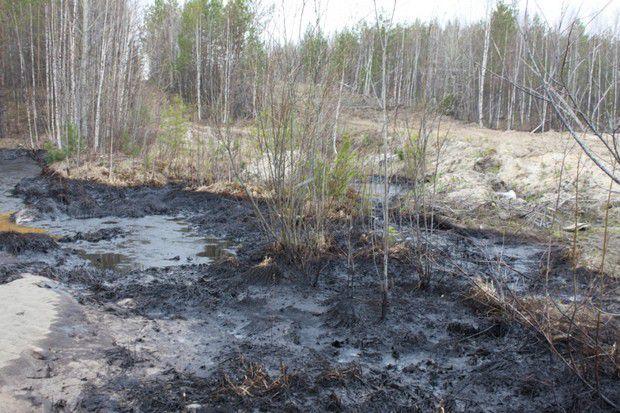 В Юрьянском районе произошел разлив нефтепродуктов.