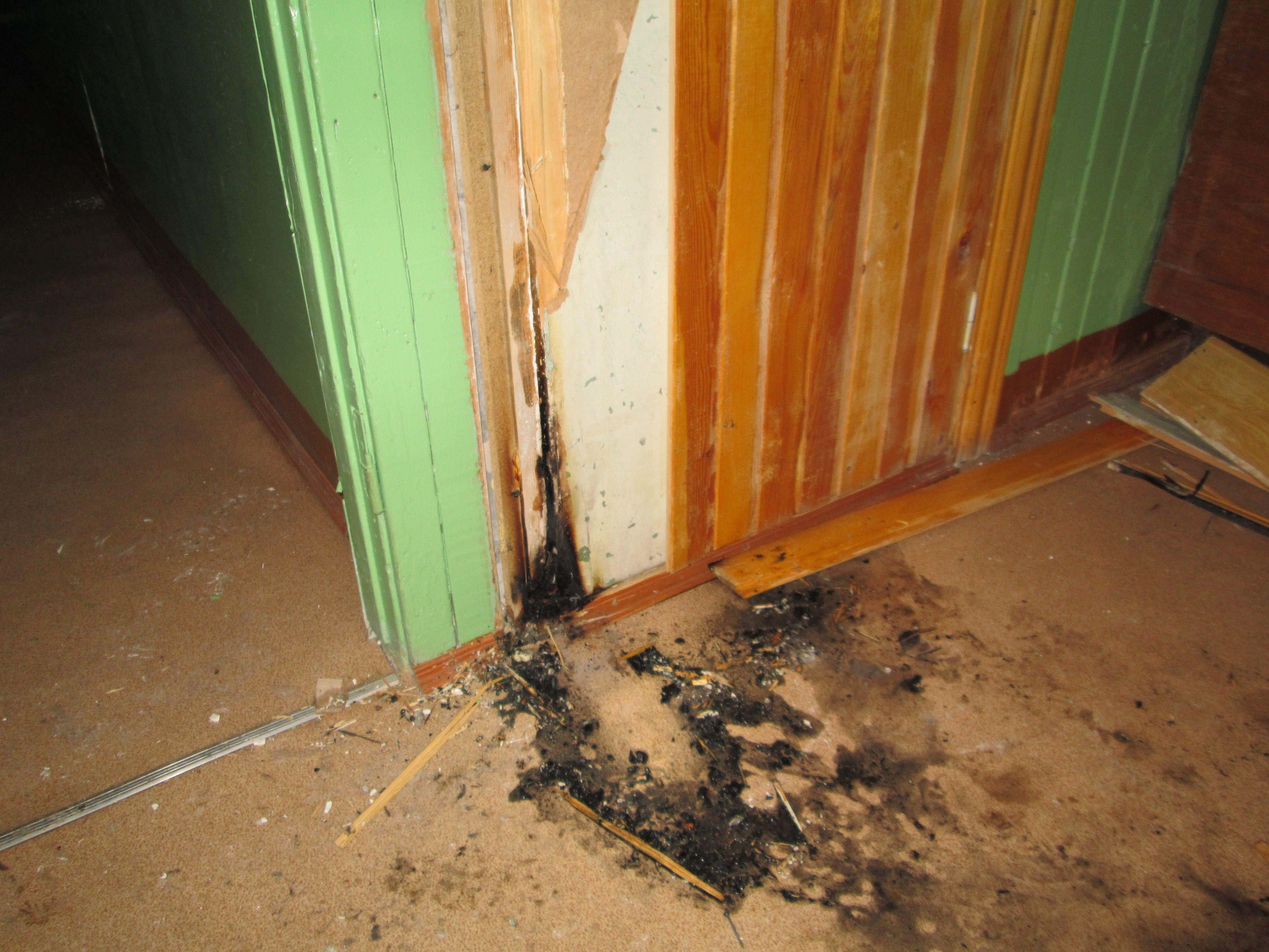 На проспекте Строителей неизвестные пытались поджечь квартиру.