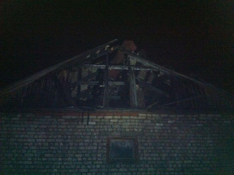 В д. Дряхловщина сгорел жилой дом.
