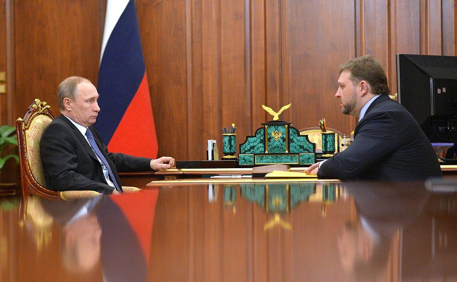 Владимир Путин провёл рабочую встречу с губернатором Кировской области Никитой Белых.
