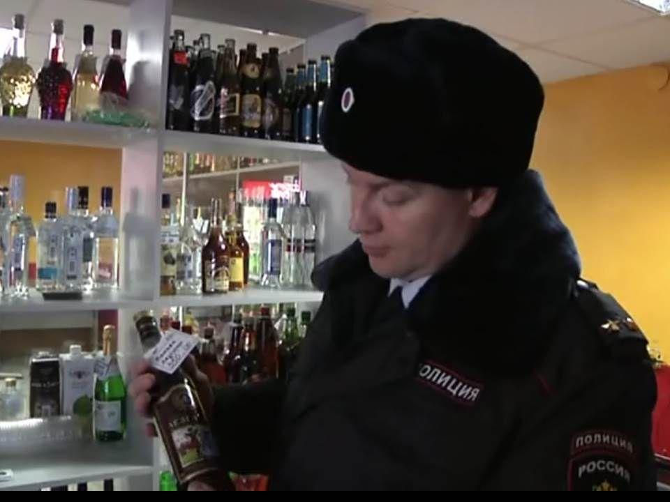 В магазине на улице Комсомольской торговали контрафактным алкоголем (ВИДЕО)