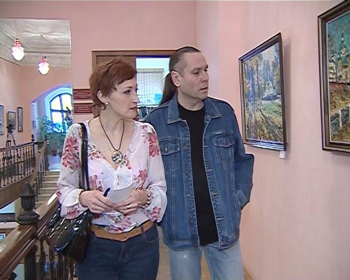 В библиотеке им. Грина открылась выставка живописи кировского художника Вячеслава Чернова