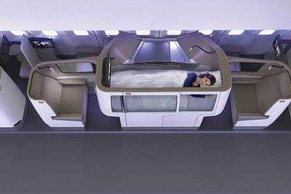 В самолетах появятся кресла-кровати для полноценного отдыха.