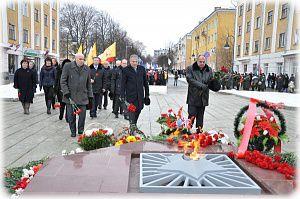 В Кирове в День защитника Отечества почтили память погибших.