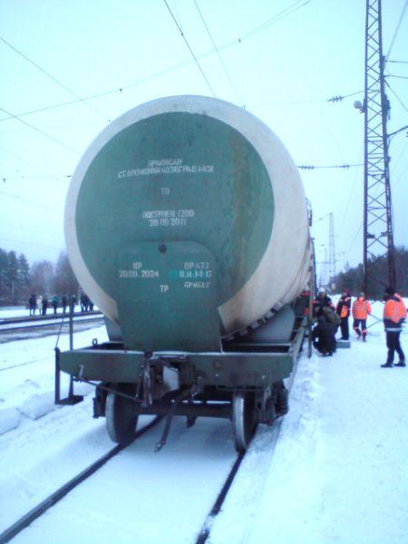 В Оричевском районе цистерна сошла с рельсов