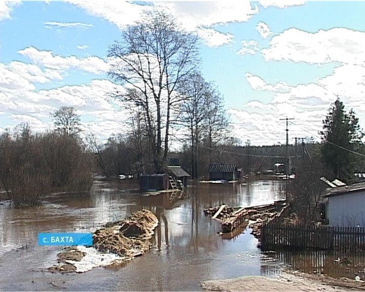 Большая вода в селе Бахта