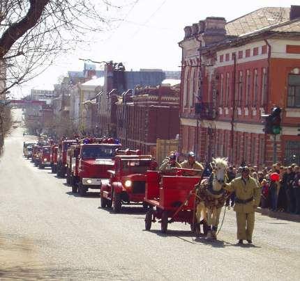На улицы Кирова выйдет пожарная ретро-техника