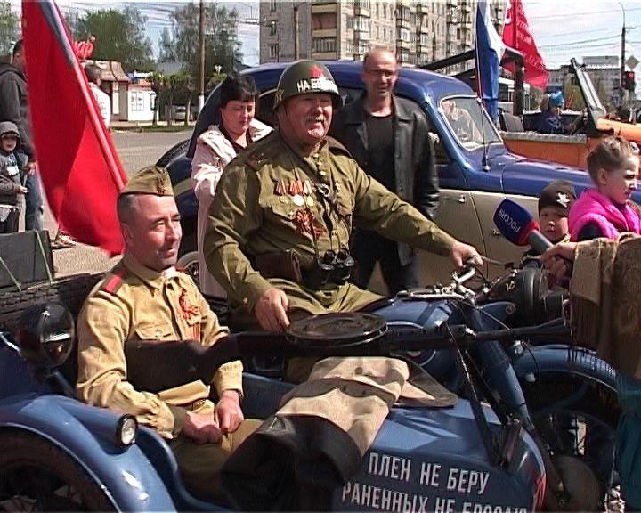 Автопробег 9 мая. Поздравление в госпитале ветеранов войн