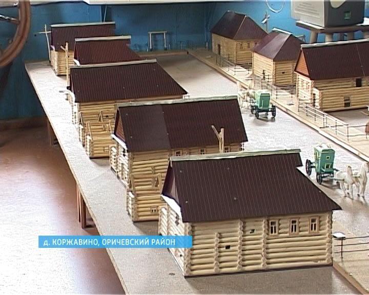 Умелец из Оричевского района воссоздал копию своей малой родины - деревни Верхние Пленковы