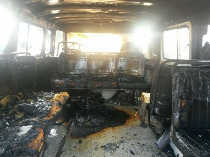 В Кирове во время движения загорелся УАЗ.