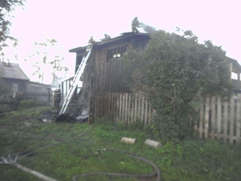 В Слободском районе произошел пожар в жилом доме.