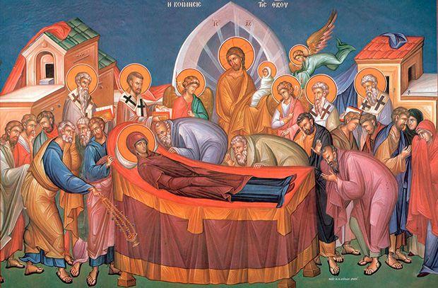 Празднование Успения Божией Матери ичин погребения вхрамах Епархии