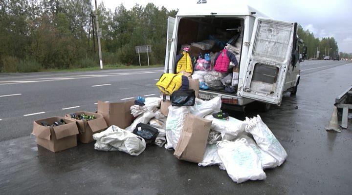 ВКирове схвачен фургон сконтрафактной одеждой