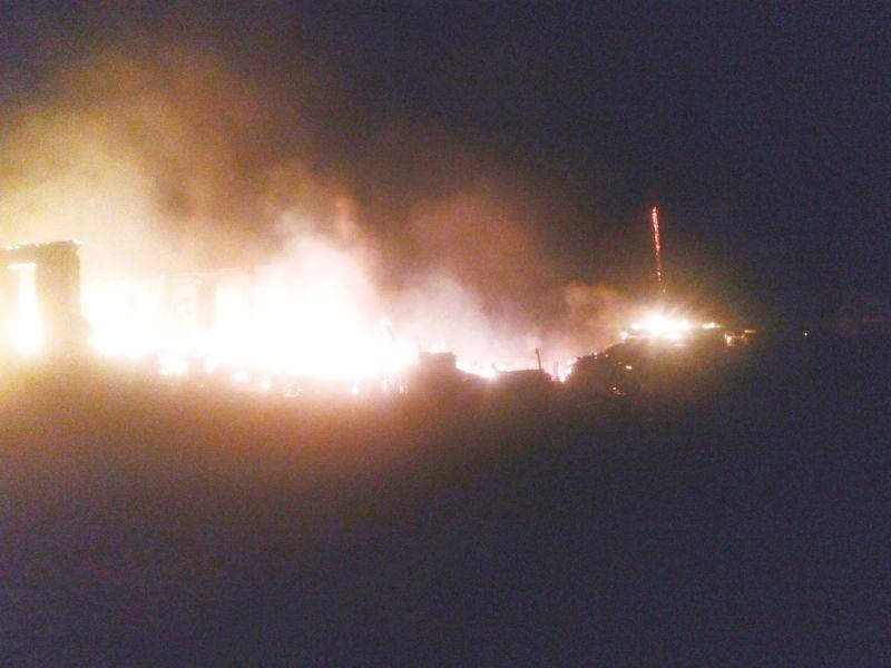 ВСвече сегодня ночью сгорела лесопилка