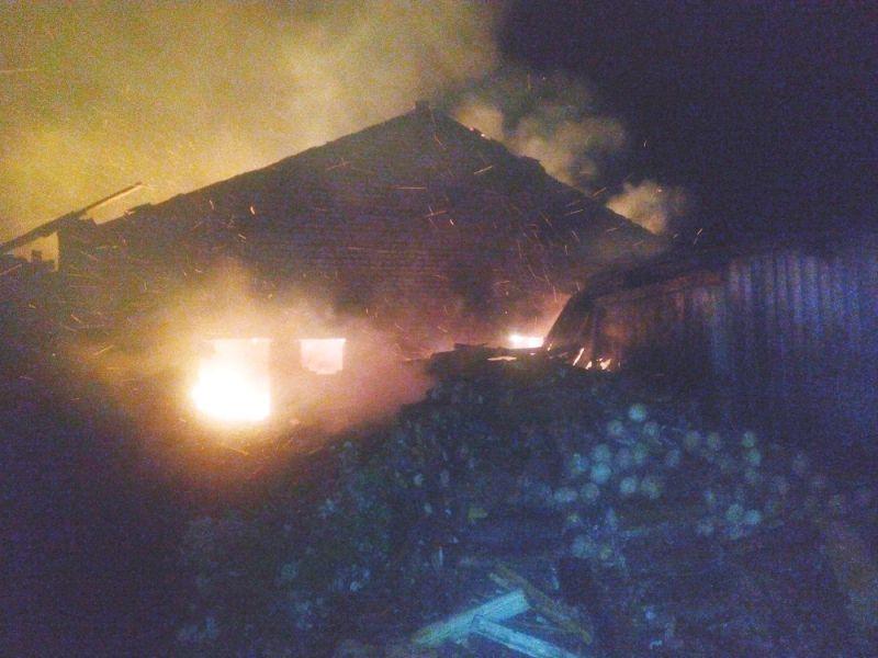 ВСвече пожар уничтожил лесопилку
