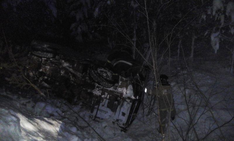 ВАфанасьевском районе вкювет вылетел УАЗ сгруппой молодых людей