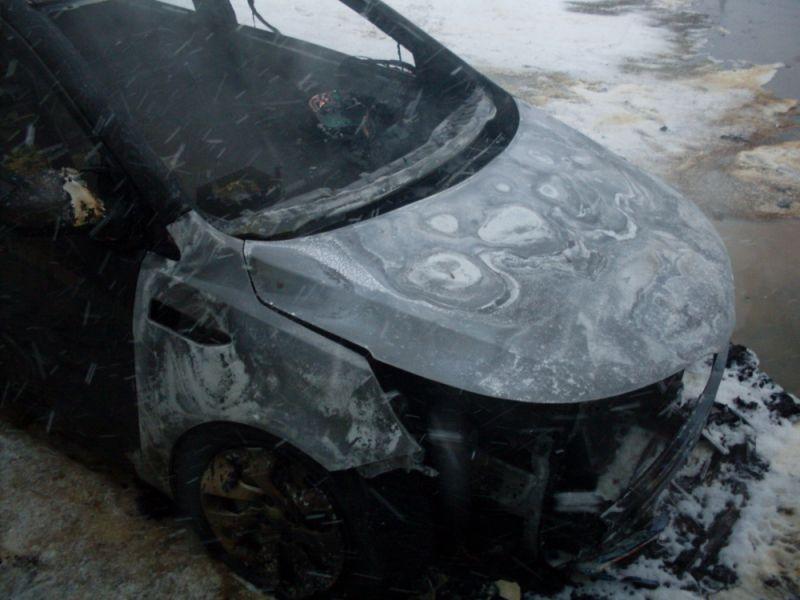 В Котельниче 6 человек тушили автомобиль