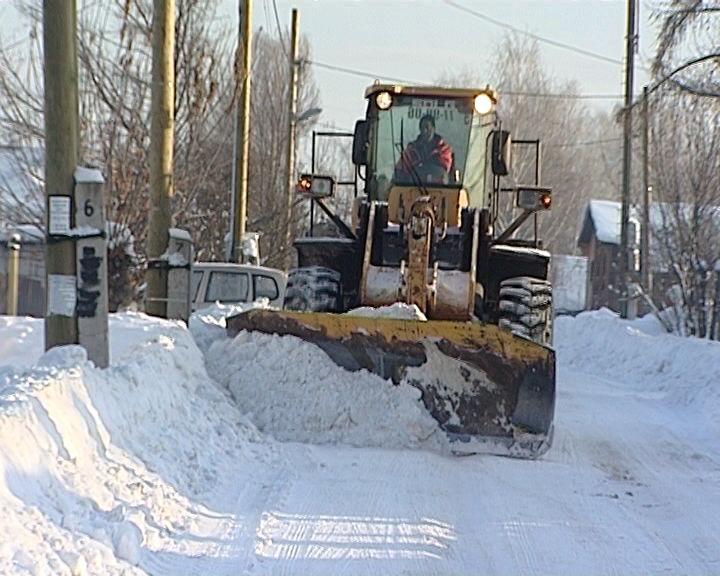 Чистка от снега дорог в сельских поселениях