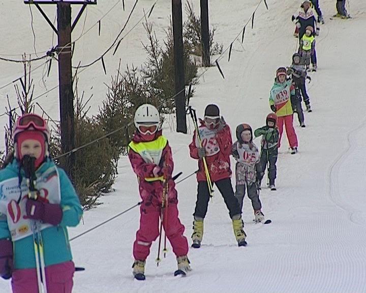 Соревнования юных горнолыжников на Кикиморской горе