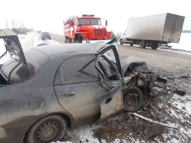 ВУржумском районе столкнулись две иномарки