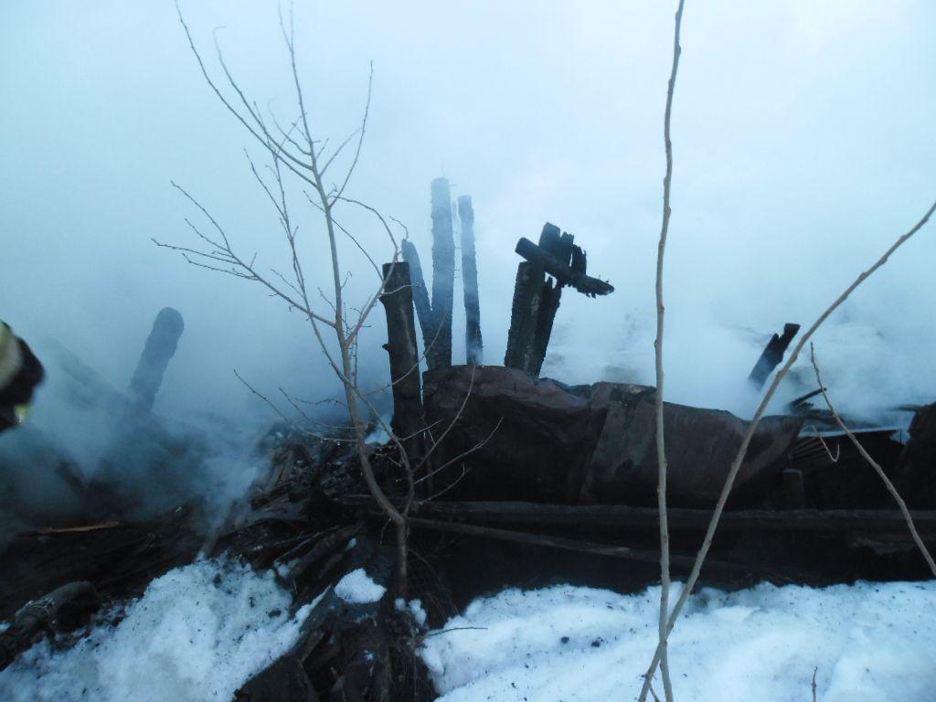 Неизвестные сожгли два дома всадовом обществе «Северянка-3»