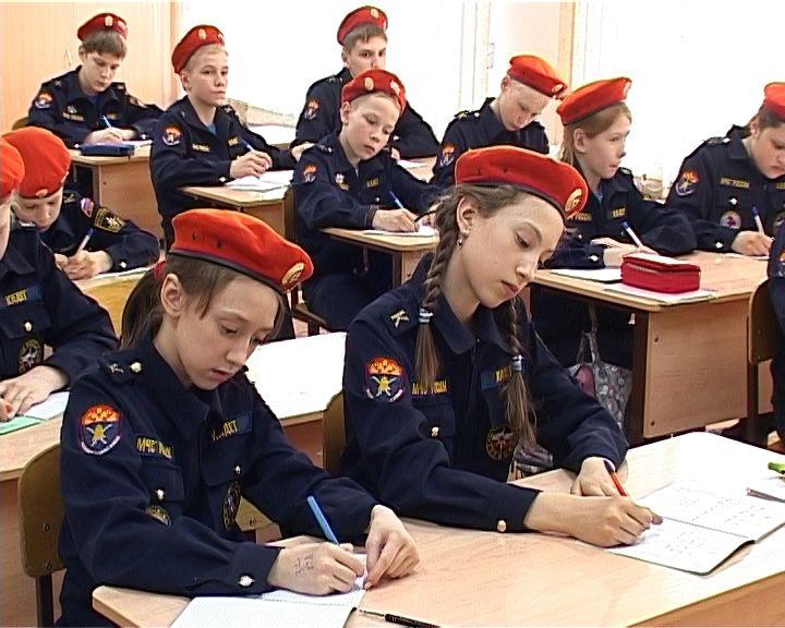 Первый кадетский класс МЧС России и казачьего войска заканчивает учебу