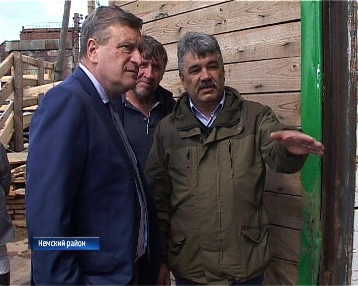 Игорь Васильев посетил с рабочим визитом Немский район