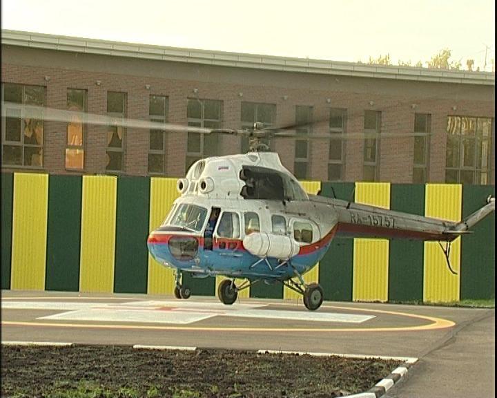Вертолетная площадка для санавиации у областного Центра травматологии