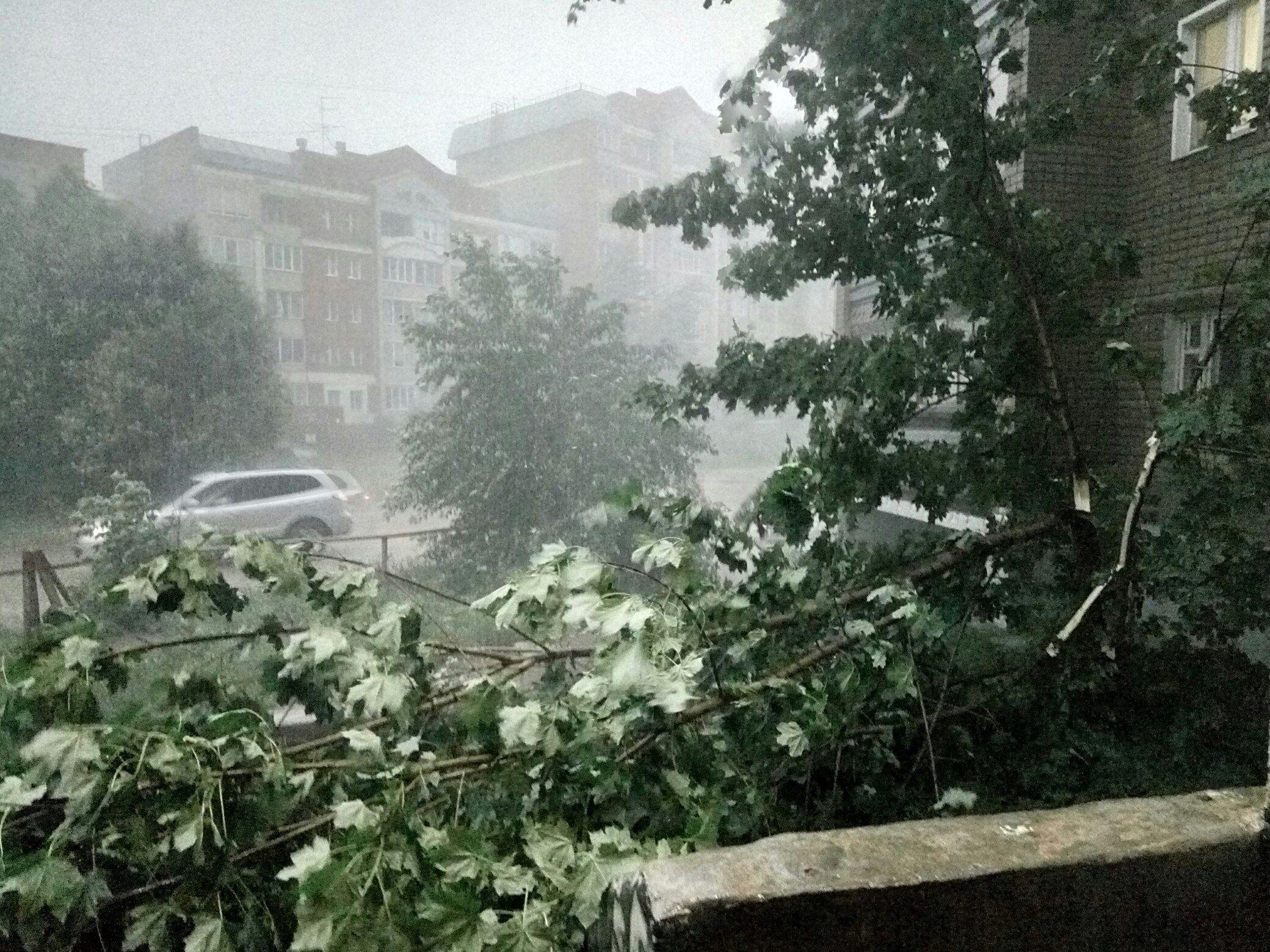 После урагана вКирове опять предупредили оливнях сгрозой