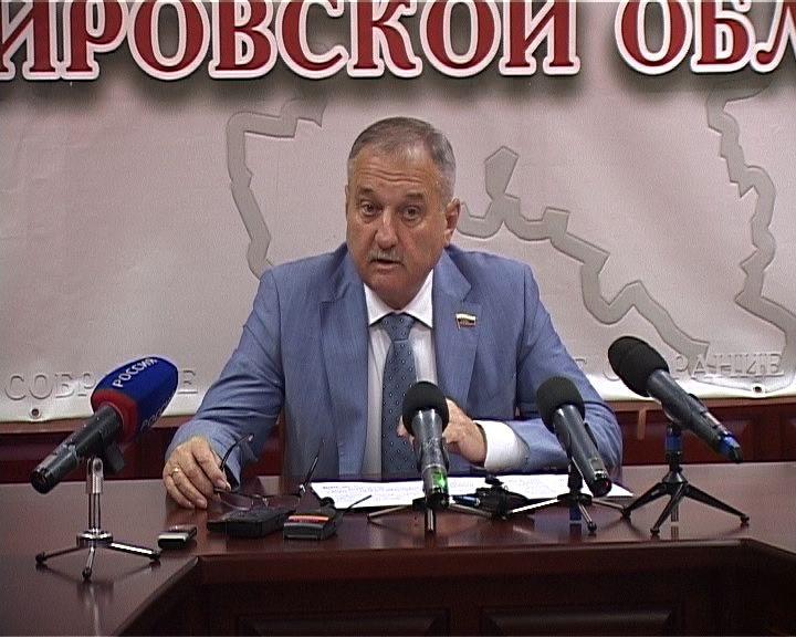 Владимир Быков провел брифинг, посвященный предстоящему пленарному заседанию ОЗС