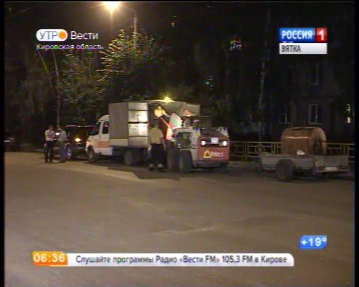 Ночной ремонт дорог