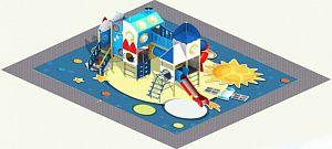 В Кирове устанавливают детскую «космическую» площадку