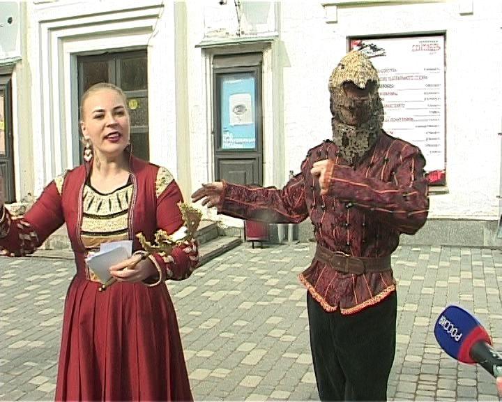 Флешмоб у театра на Спасской