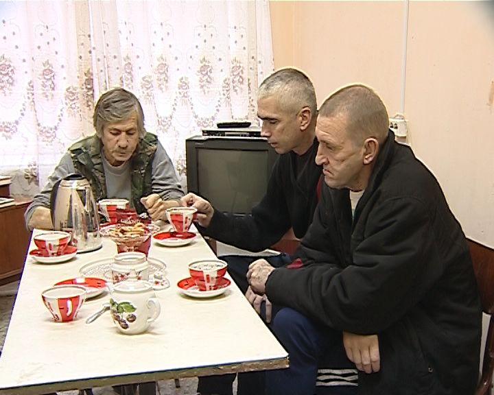Пункт обогрева для бездомных на улице Сплавной