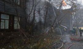 В Кирове одномоментно произошли два пожара в центре города.