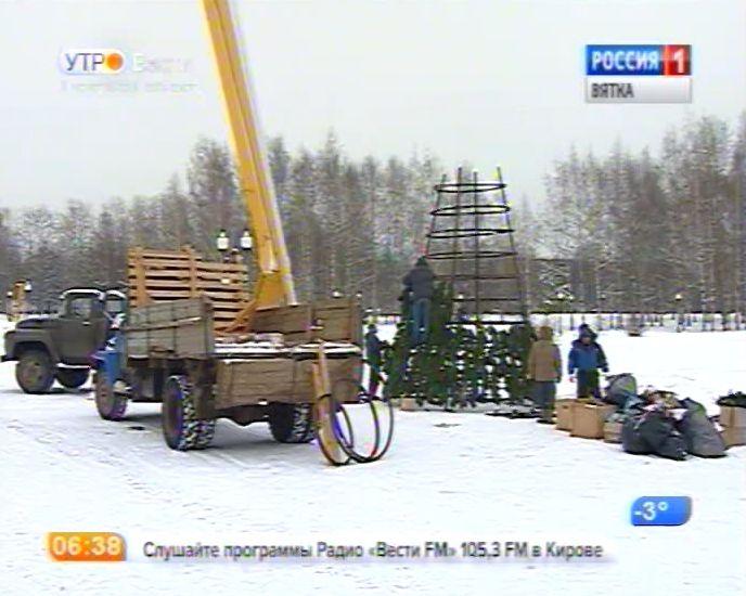 В Кочуровском парке появилась новогодняя елка