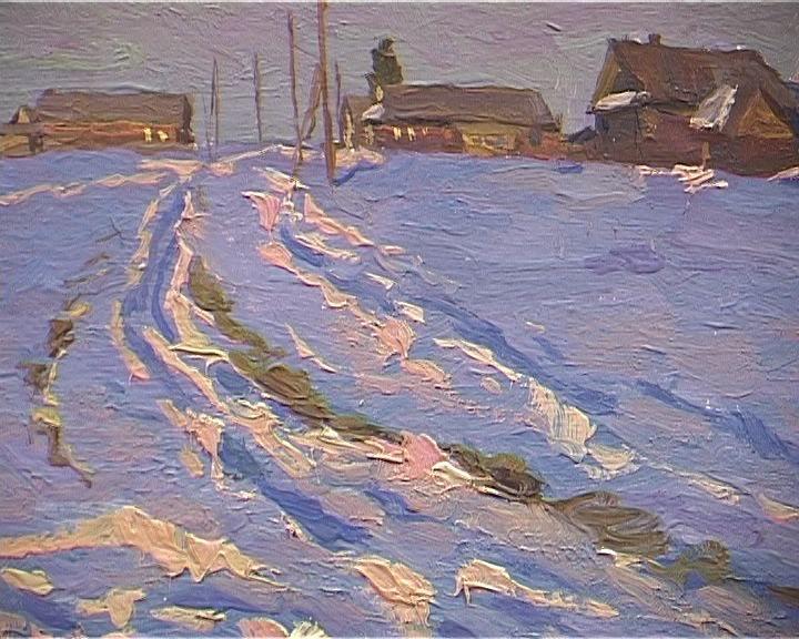 Юбилейная выставка Николая Поликарпова в Вятском художественном училище