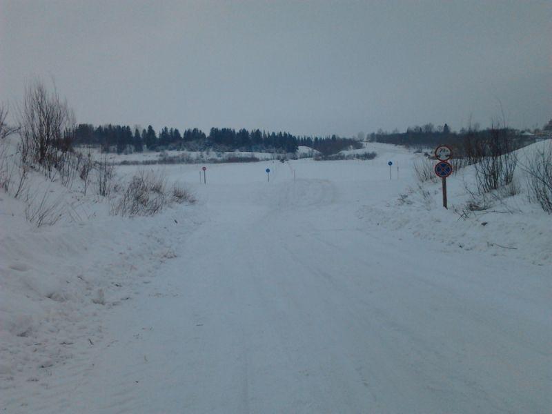 В Кировской области открыли первую ледовую переправу.