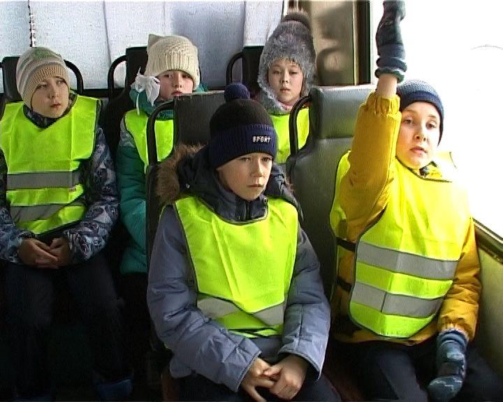 Юные кировчане побывали на уроке по правилам безопасного проезда в пассажирском транспорте
