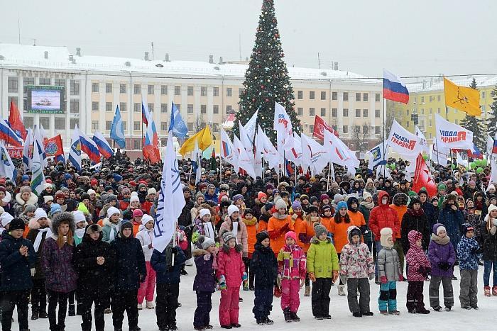 В Кирове прошла акция в поддержку российских олимпийцев (ВИДЕО).