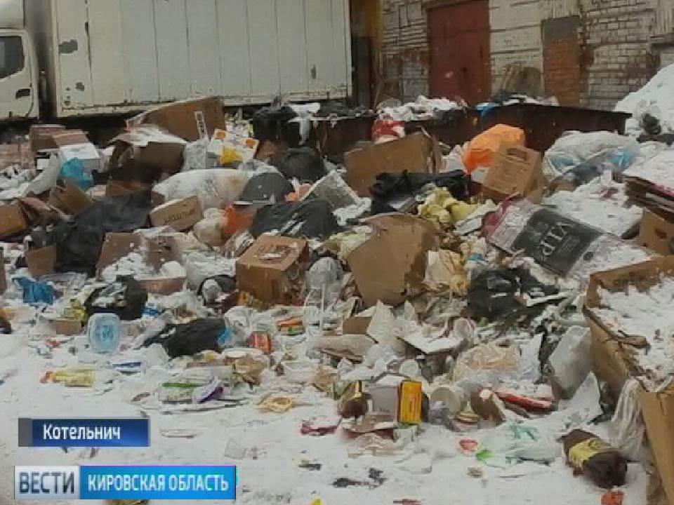 Уборка улиц от снега и мусора в Котельниче
