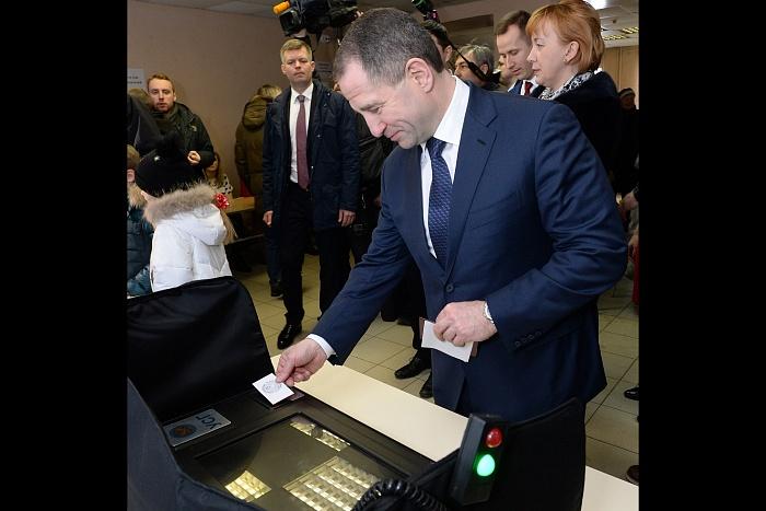 Михаил Бабич проголосовал на выборах Президента РФ.
