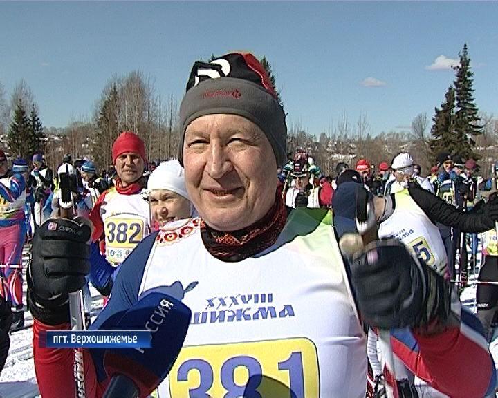 В Верхошижемье прошел лыжный марафон Первенства России среди любителей